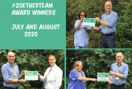 #2getherTeam Award winners for July and August